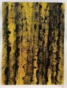 tableau abstrait : Noir sur jaune