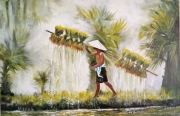 tableau personnages : l'agriculteur du Vietnam