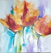 tableau fleurs : comme une odeur de printemps