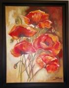 tableau fleurs : les coquelicots 2