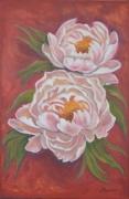 tableau fleurs : les pivoines