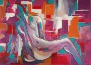 tableau abstrait : la nudité