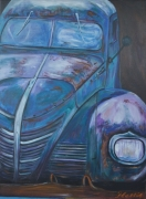 painting nature morte : voiture