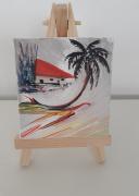 tableau paysages tropical iles toile exotique toile tropicale : Mini toile : sous les tropiques