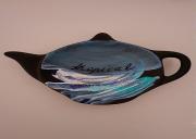artisanat dart marine marine porcelaine acrylique artisanal : Peinture sur soucoupe - modèle 3