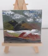 tableau paysages montagne paysage toile mini toile : Mini toile - Au sommet des Montagnes