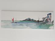 tableau marine marine bord de mer eau voiliers : La vieille barique