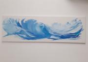 tableau marine marin exotique vaugue tropical : Au coeur des vagues