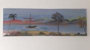 tableau marine egypte le nil marine exotique : Les bords du nil