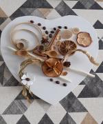 artisanat dart autres fruits seches toile exotique toile mixte fruits : Toile : Coeur fruitié et caféiné