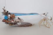 artisanat dart marine bouteille decorarive marin : Bouteille décorative -air marin