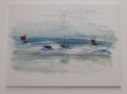 tableau marine marine acrylique mer ocean : Pause