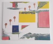 tableau abstrait toile abstraite couleurs abstrait : Toile abstraite : Horizon