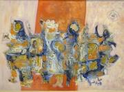 painting abstrait bonjour lire peidre : Signes