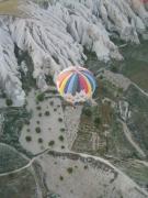 photo paysages montgolfiere cappadoce turquie roches : Montgolfière en Cappadoce