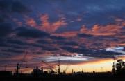 photo sagunte espagne port ciel : Coucher de soleil sur Sagunte