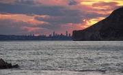 photo marine coucherdesolei benidorm espagne mer : Coucher de soleil sur Benidorm