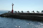 photo dubrovnik croatie mole mer : Môle de Dubrovnik
