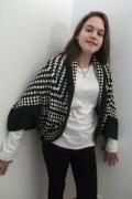 art textile mode : cardigan