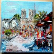 tableau scene de genre : PARIS NOTRE DAME DE PARIS