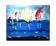 tableau paysages la mer voiliers voiles : LES VOILES
