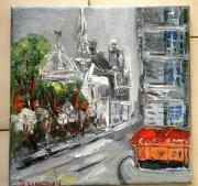 tableau paysages paris notre dame huile toile : NOTRE DAME DE PARIS