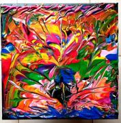 tableau abstrait : PEINTURE ABSTRAITE FLORAL