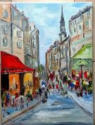 tableau scene de genre : PARIS QUARTIER ST GERMAIN