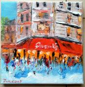 tableau scene de genre : BRASSERIE PARIS LE FOUQUET 'S