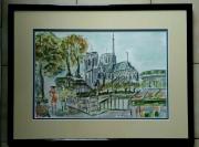 tableau paysages paris notre dame de paris monument : NOTRE DAME DE PARIS