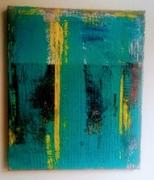 painting abstrait abstrait : bleu line