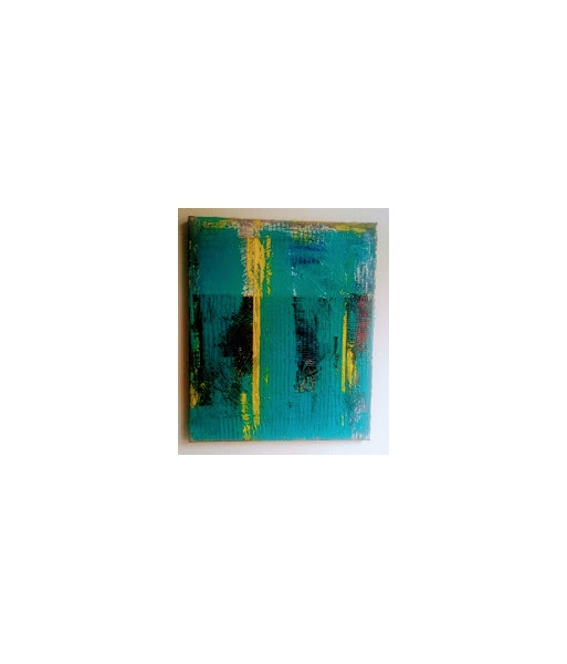 TABLEAU PEINTURE abstrait Abstrait Acrylique  - bleu line