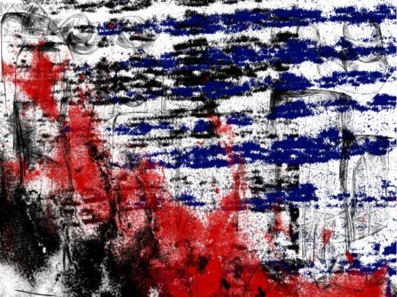TABLEAU PEINTURE abstrait Abstrait  - STOP WAR NOW