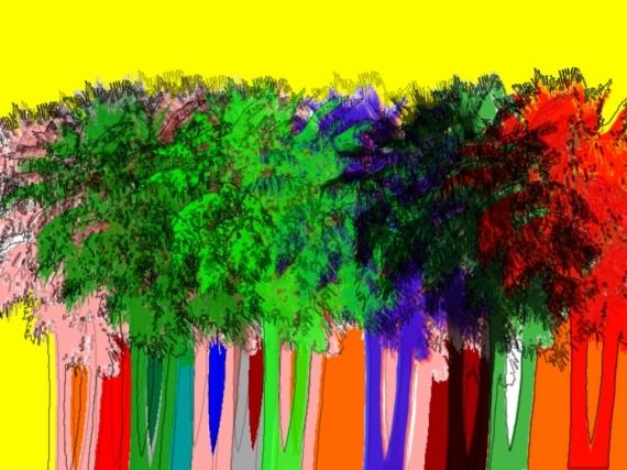 ART NUMéRIQUE palmier Paysages  - Palm street
