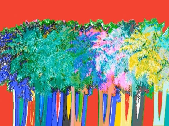 ART NUMéRIQUE palmiers Paysages  - Palm street 2