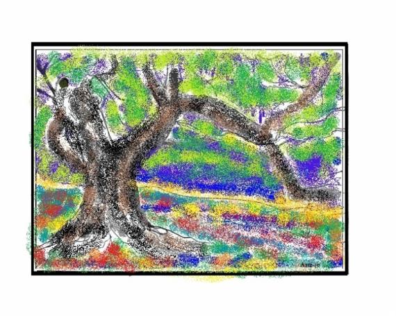 TABLEAU PEINTURE Paysages  - l'olivier
