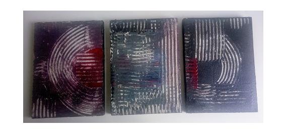 """TABLEAU PEINTURE abstrait Abstrait  - """"labyrinthe"""""""