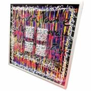 tableau autres encre acrylique plexiglas calligraphie : Aimer à perdre la raison
