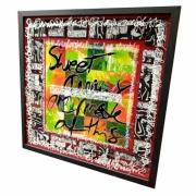 tableau autres calligraphie plexiglas acrylique encre : Sweet dreams
