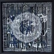 tableau autres calligraphie encre acrylique plexiglas : Grey mandala 1