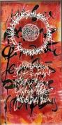tableau autres acrylique encre calligraphie plexiglas : Je ne suis pas mieux qu'un autre