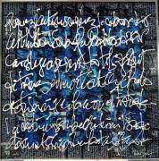 tableau autres acrylique encre calligraphie plexiglas : Blablableu