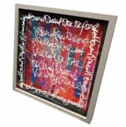 tableau calligraphie acrylique encre plexiglas : Rien au monde