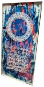tableau autres encre acrylique plexiglas calligraphie : TrashWorld in blue