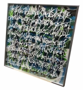 tableau calligraphie acrylique encre plexiglas : Amazonia