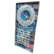 tableau autres encre acrylique plexiglas calligraphie : Partir, voyager