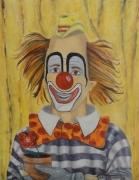 tableau personnages clown gai joyeux enfant : Le Clown