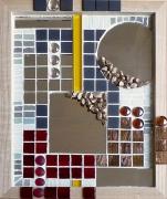 """deco design abstrait tableau miroir mosaique pate de verre : Dans tous ces éclats """"ASYMÉTRIE"""""""