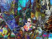 art numerique new york commics superman pop art : dreamlike world