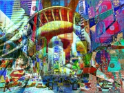 art numerique villes new york usa liberte pop art : Liberty Pop